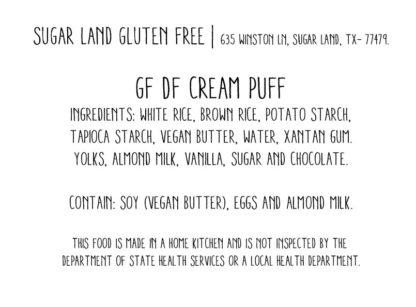 Gluten free Cream puff