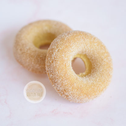 Gluten free and dairy free baked donuts