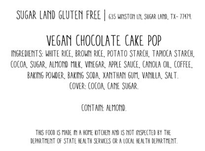 Vegan Chocolate cake pop