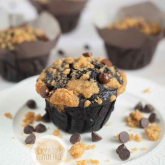Gluten free dairy free chocolate muffin